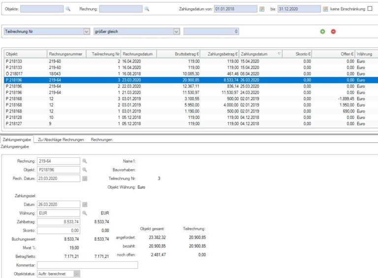 Zahlungsverwaltung im Handwerk
